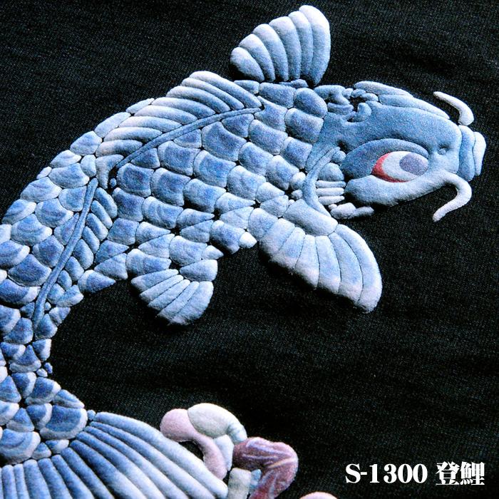 和柄立体プリントの説明,登鯉