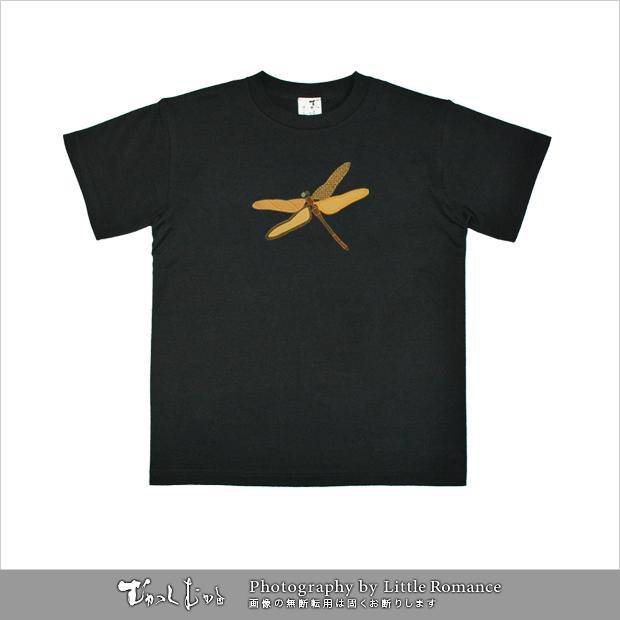 和柄メンズ金箔Tシャツ,勝軍虫