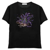 レディスTシャツ,半袖シルケット,ラベンダー(紫)