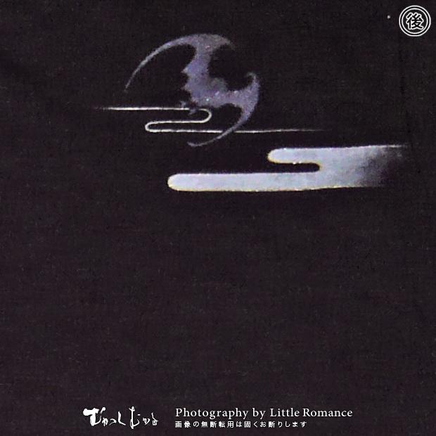 和柄メンズ手描友禅半袖Tシャツ,月夜蝙蝠