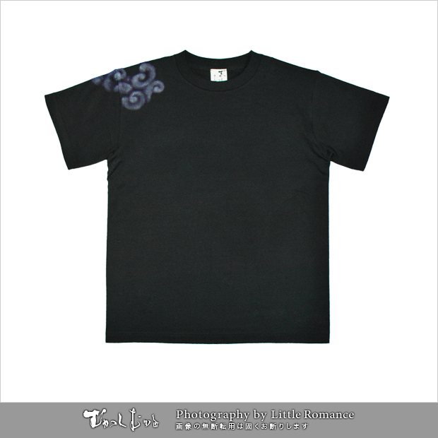 和柄メンズ手描友禅半袖Tシャツ,麒麟