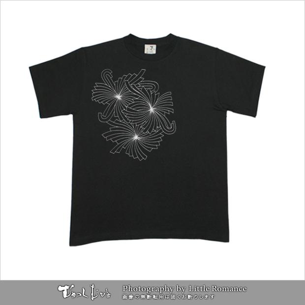 メンズ和柄半袖Tシャツ,破菊