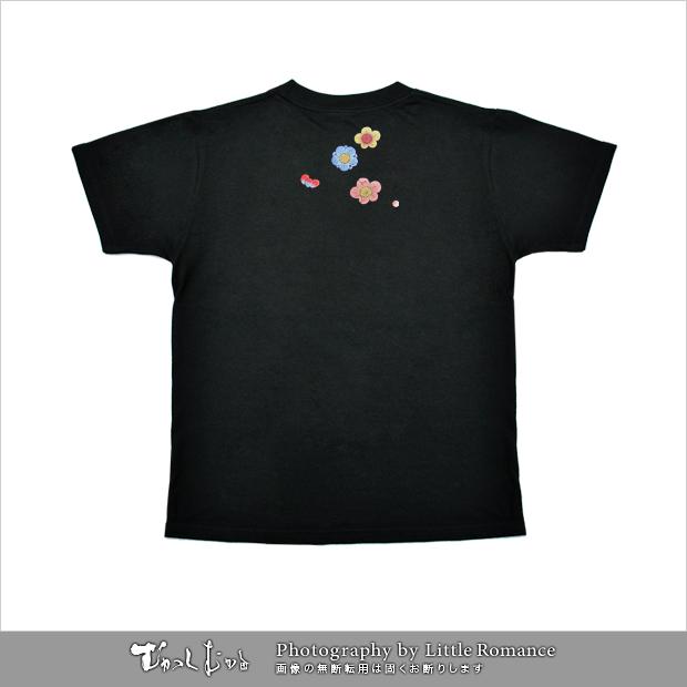 和柄レディス半袖Tシャツ,梅つなぎ
