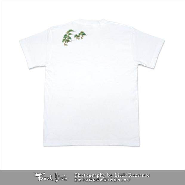 和柄メンズ半袖Tシャツ,竹虎絵