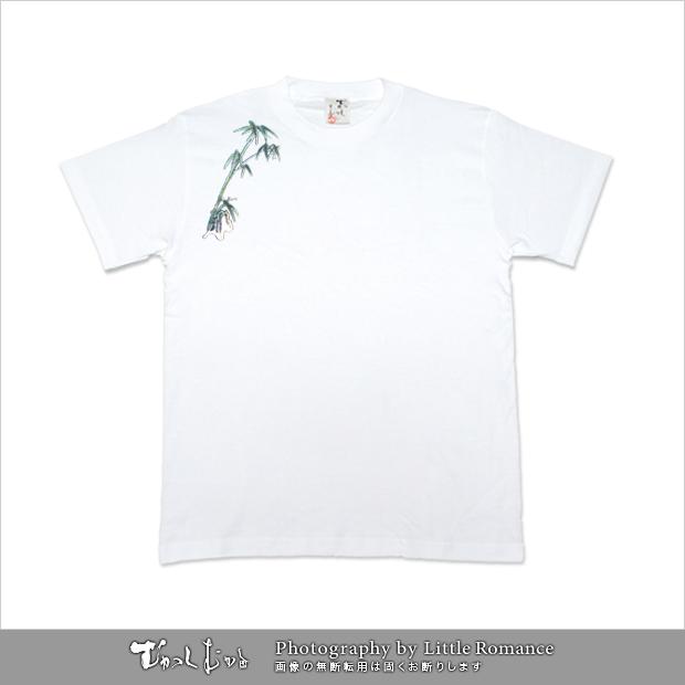 和柄メンズ半袖Tシャツ,竹虎山水