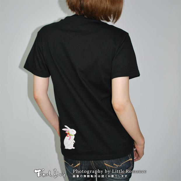 和柄レディス半袖Tシャツ,毬兎