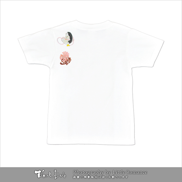 和柄レディス半袖Tシャツ,おかめ