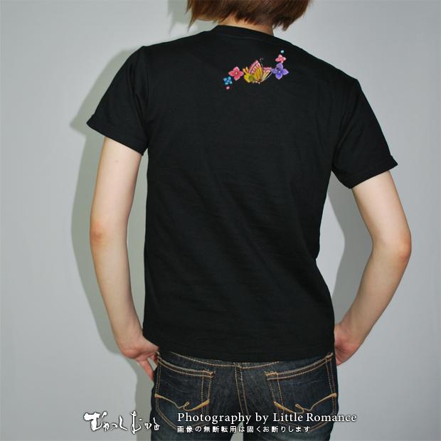 和柄レディス半袖Tシャツ,あじさい