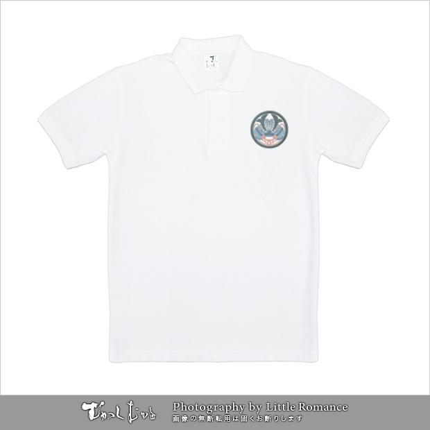 和柄メンズポロシャツ,毘沙門天