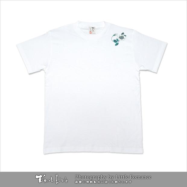 メンズ和柄半袖Tシャツ,花鳥文様
