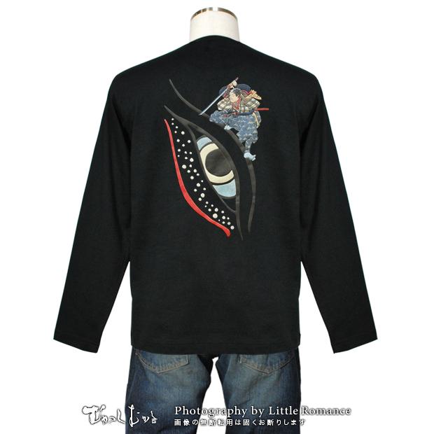 メンズ和柄半袖Tシャツ,目鯨