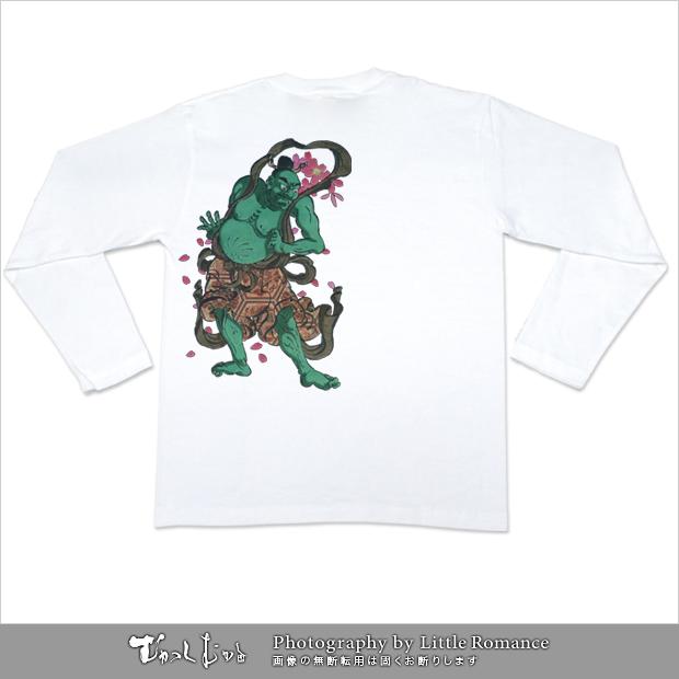 メンズ和柄半袖Tシャツ,吽(うん)
