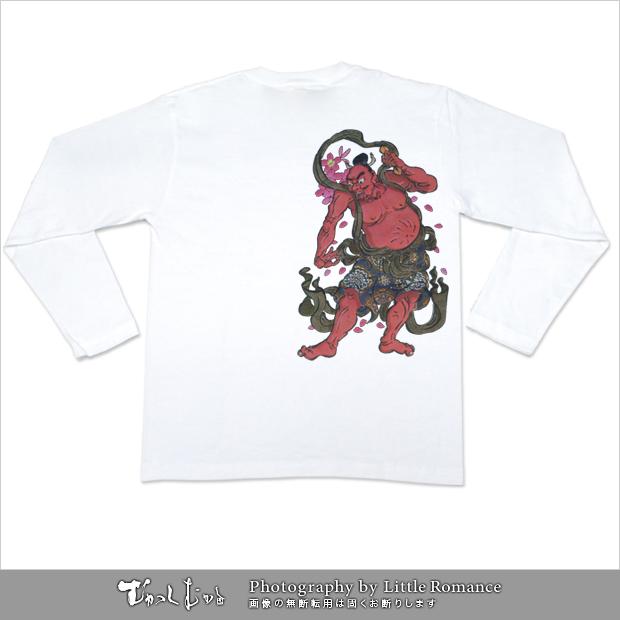 メンズ和柄半袖Tシャツ,阿(あ)