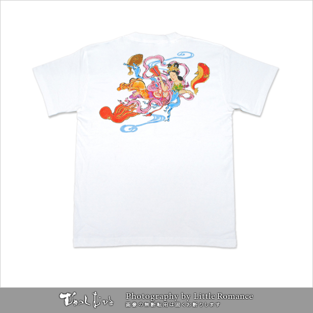 メンズ和柄半袖Tシャツ,乙姫