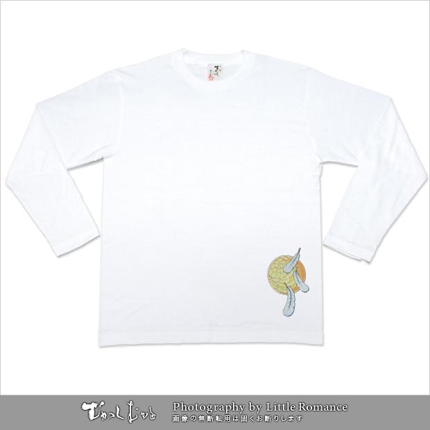 メンズ和柄半袖Tシャツ,夫婦鷺