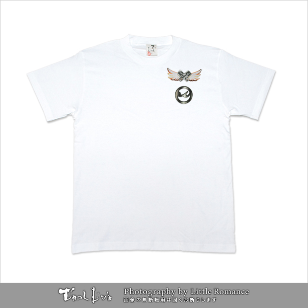メンズ和柄半袖Tシャツ,風神ロッダー