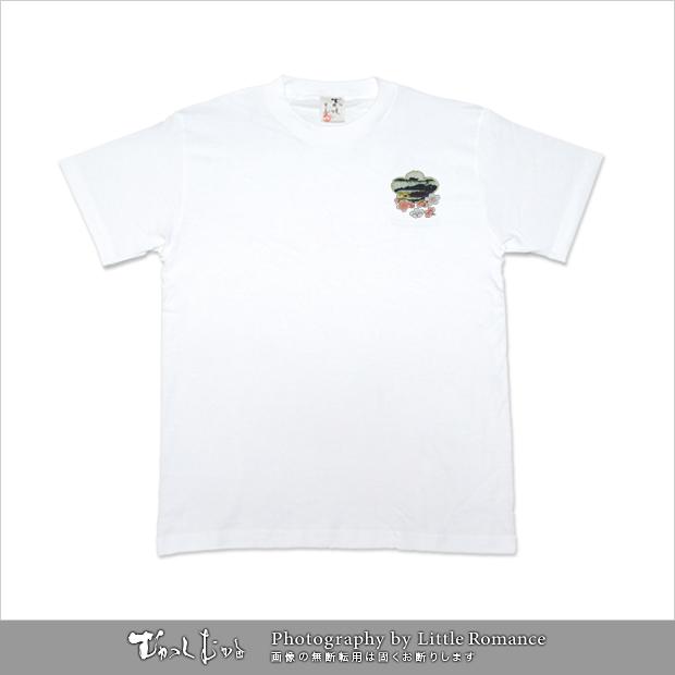メンズ和柄半袖Tシャツ,美人画