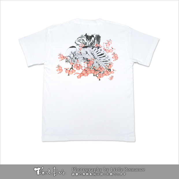 デビルマン和柄Tシャツ,隠れ梅髑髏vsデビルマン