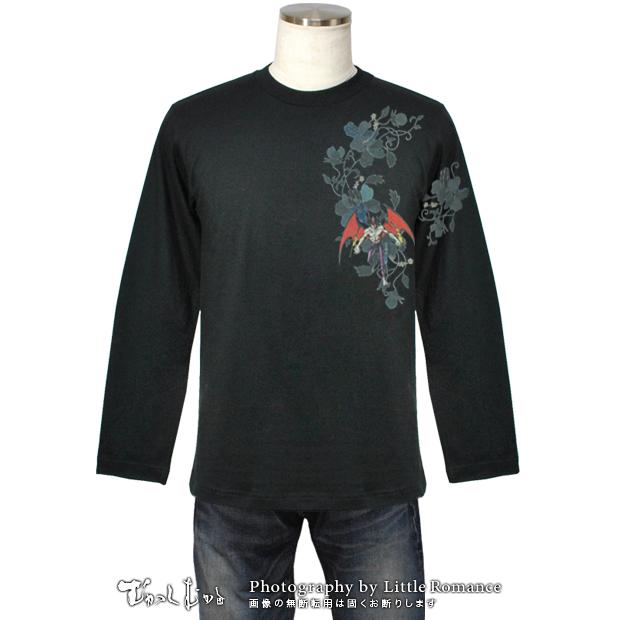 デビルマン和柄Tシャツ,唐草デビルマン