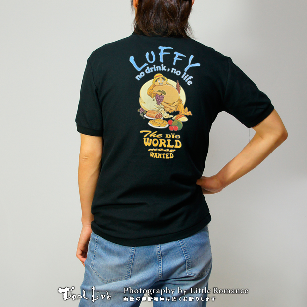 和柄メンズポロシャツ,onepiece,ワンピース,布袋ルフィ
