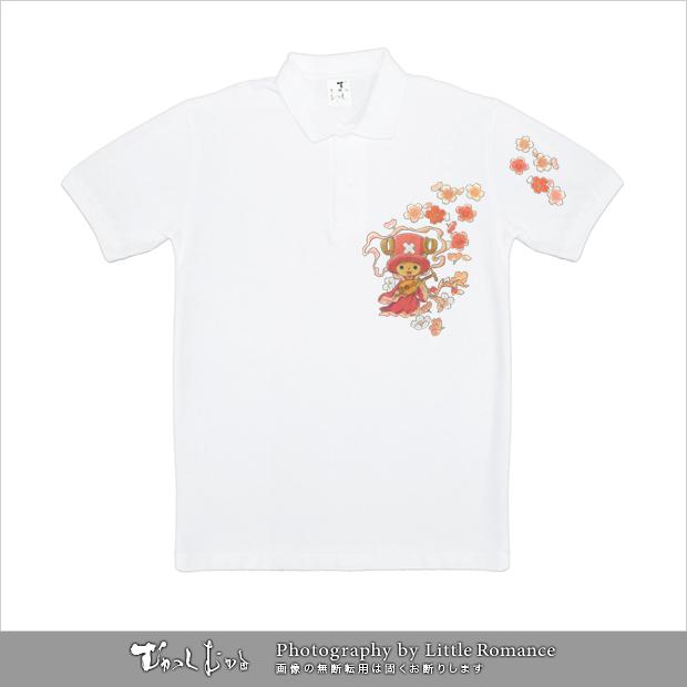 和柄メンズポロシャツ,onepiece,ワンピース,弁財天チョッパー