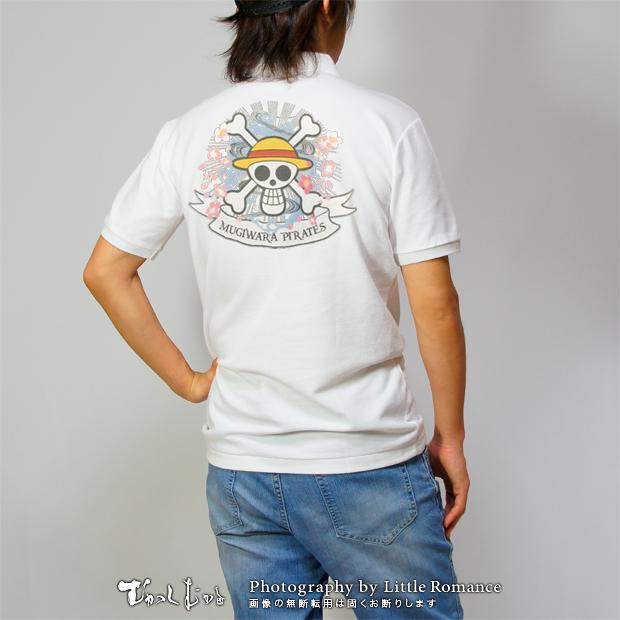 和柄メンズポロシャツ,onepiece,ワンピース,麦わらパイレーツ