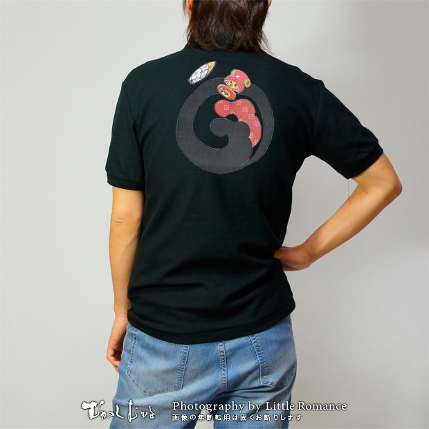 和柄メンズポロシャツ,onepiece,ワンピース,波紋チョッパー