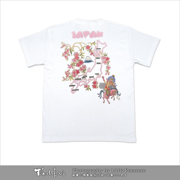 むかしむかし★ワンピースコレクション メンズ半袖Tシャツ イワちゃん日本地図