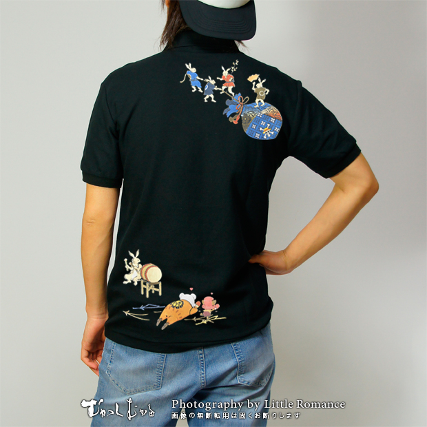 和柄メンズポロシャツ,onepiece,ワンピース,鳥獣ベポ&チョッパー