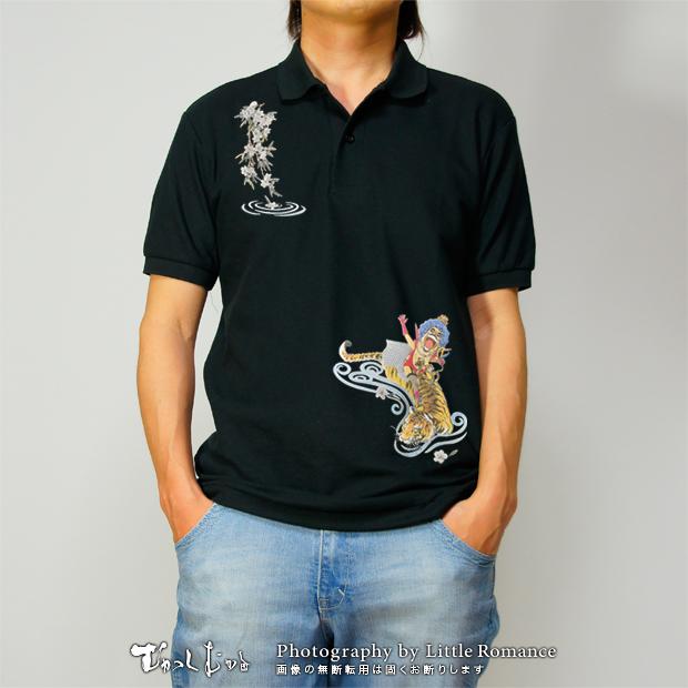 和柄メンズポロシャツ,onepiece,ワンピース,桃虎イワンコフ
