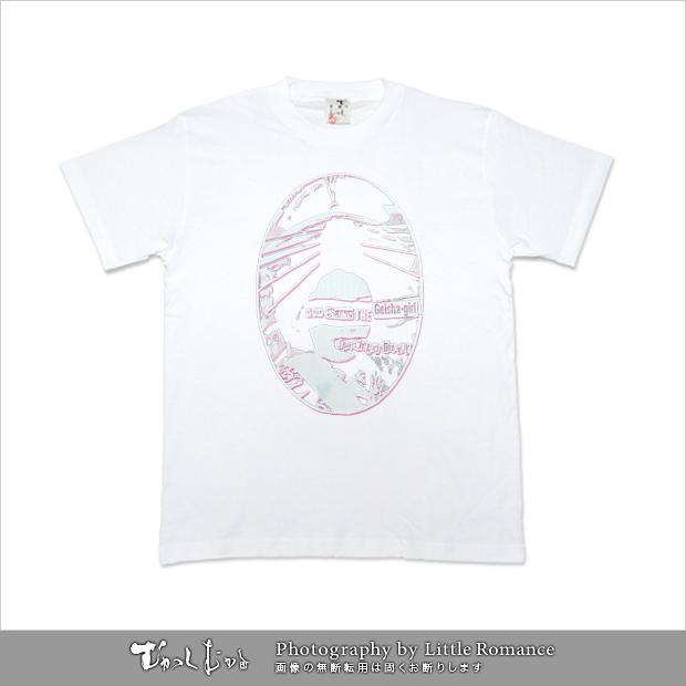 和柄メンズ半袖Tシャツ,ゲイシャピストルズ