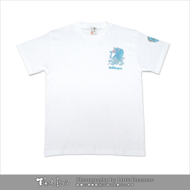 和柄メンズ半袖Tシャツ,虎スカル