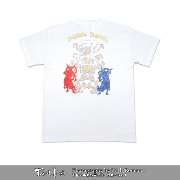メンズ和柄半袖Tシャツ,阿吽2012