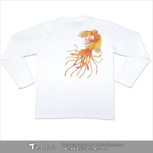 メンズ和柄長袖Tシャツ,和装鳳凰