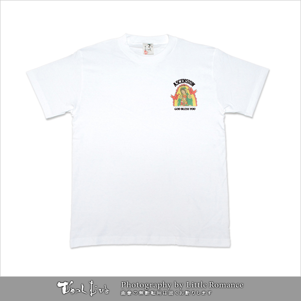メンズ和柄半袖Tシャツ,マリア観音