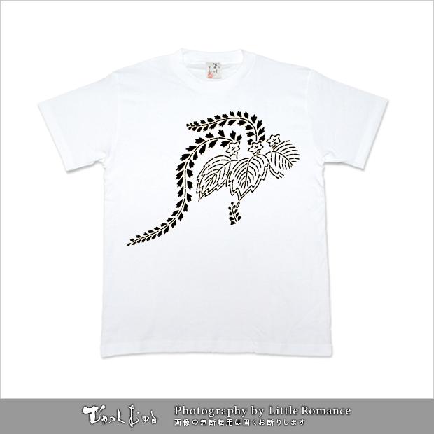メンズ和柄半袖Tシャツ,草紋
