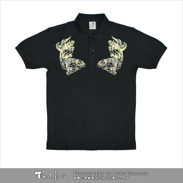 和柄メンズポロシャツ,獅子紋
