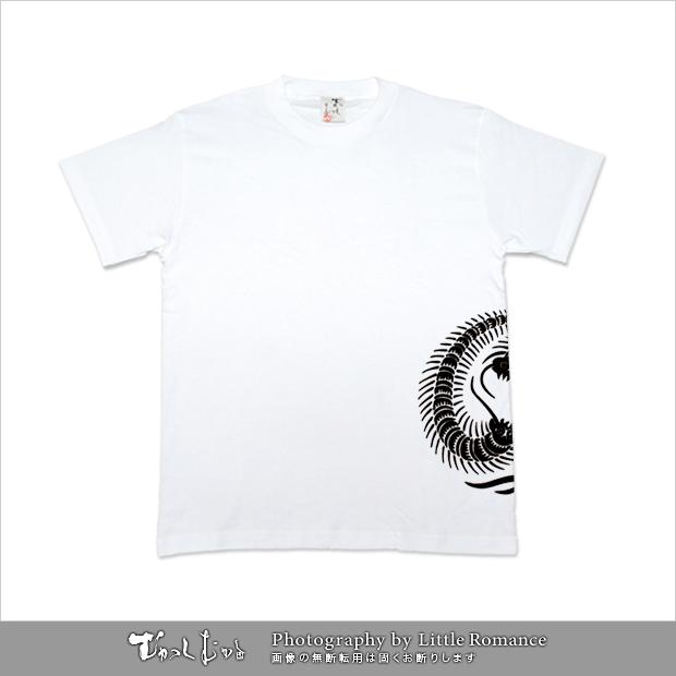 メンズ和柄半袖Tシャツ,百足紋