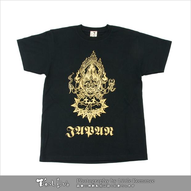 メンズ和柄半袖Tシャツ,獅子JAPAN