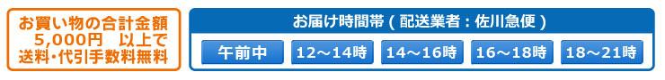 佐川急便,時間指定と送料について
